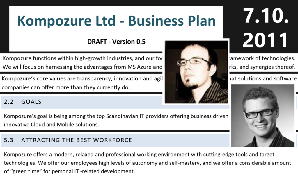Zure business plan 2011